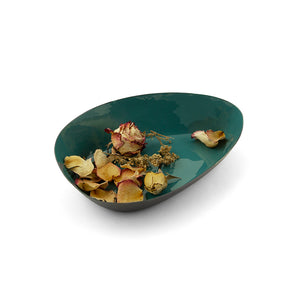 Ninyo Enameled Metal Display Bowl-sea blue