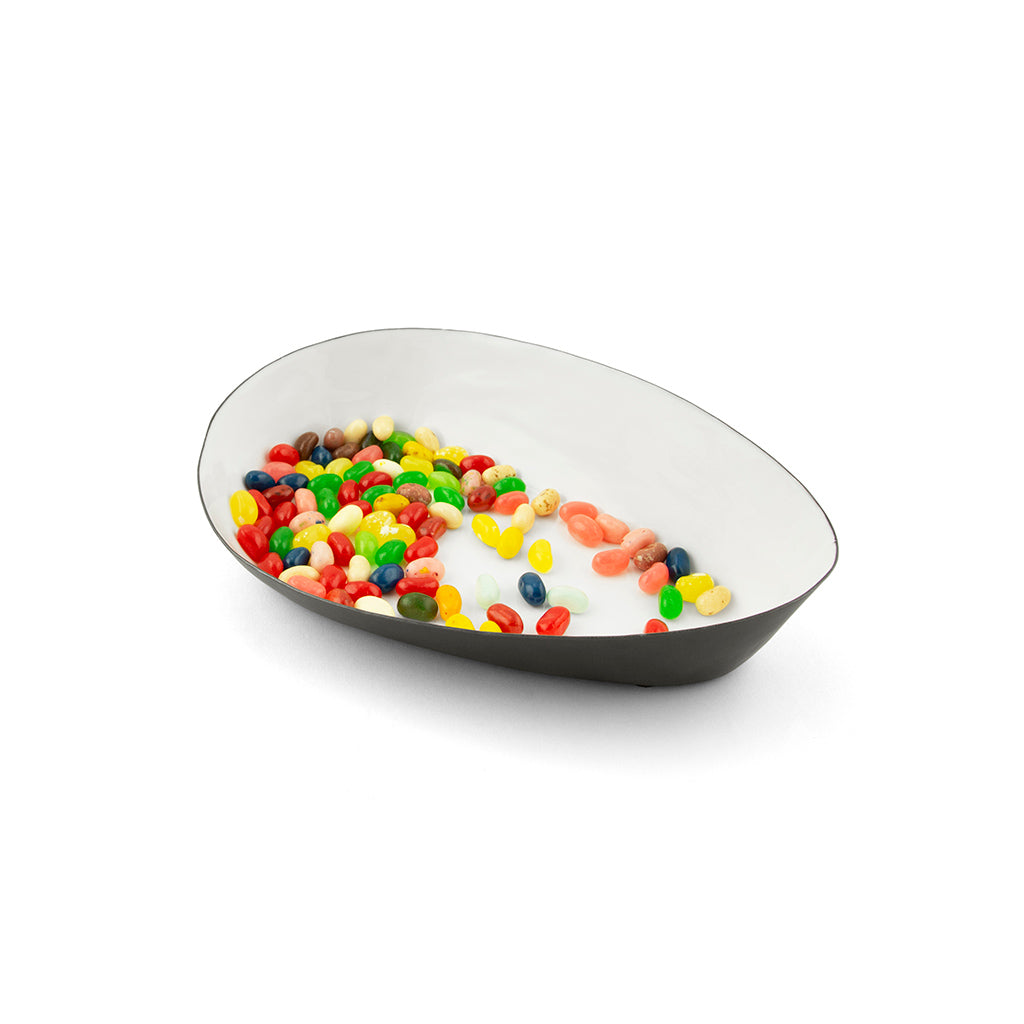 Ninyo Enameled Metal Display Bowl-snow