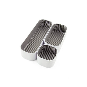 "Stacking Bin Set of 3, 2"" depth-Stripes"