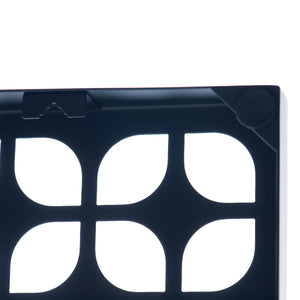 "Breeze Block Wall Tile: 7"" x 7"" Black"