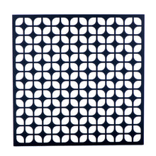 "Breeze Block Wall Tile: 15.5"" x 15.5"" Black"