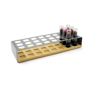 Sitting Pretty Vanity Organizers-24 slot Lipstick Rack-Stainless Steel