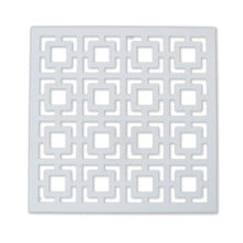 "Breeze Block Wall Tile: 7"" x 7"" White"