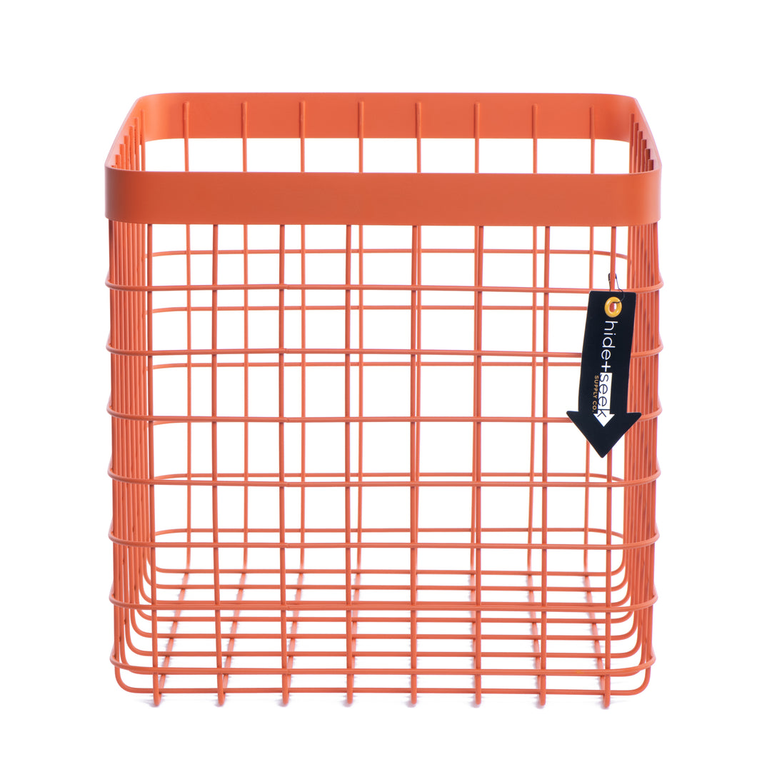 Formation Heavy-Duty Wire Bin-X-Large-Orange