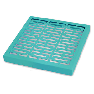 "Breeze Block Wall Tile: 7"" x 7"" Turquoise"
