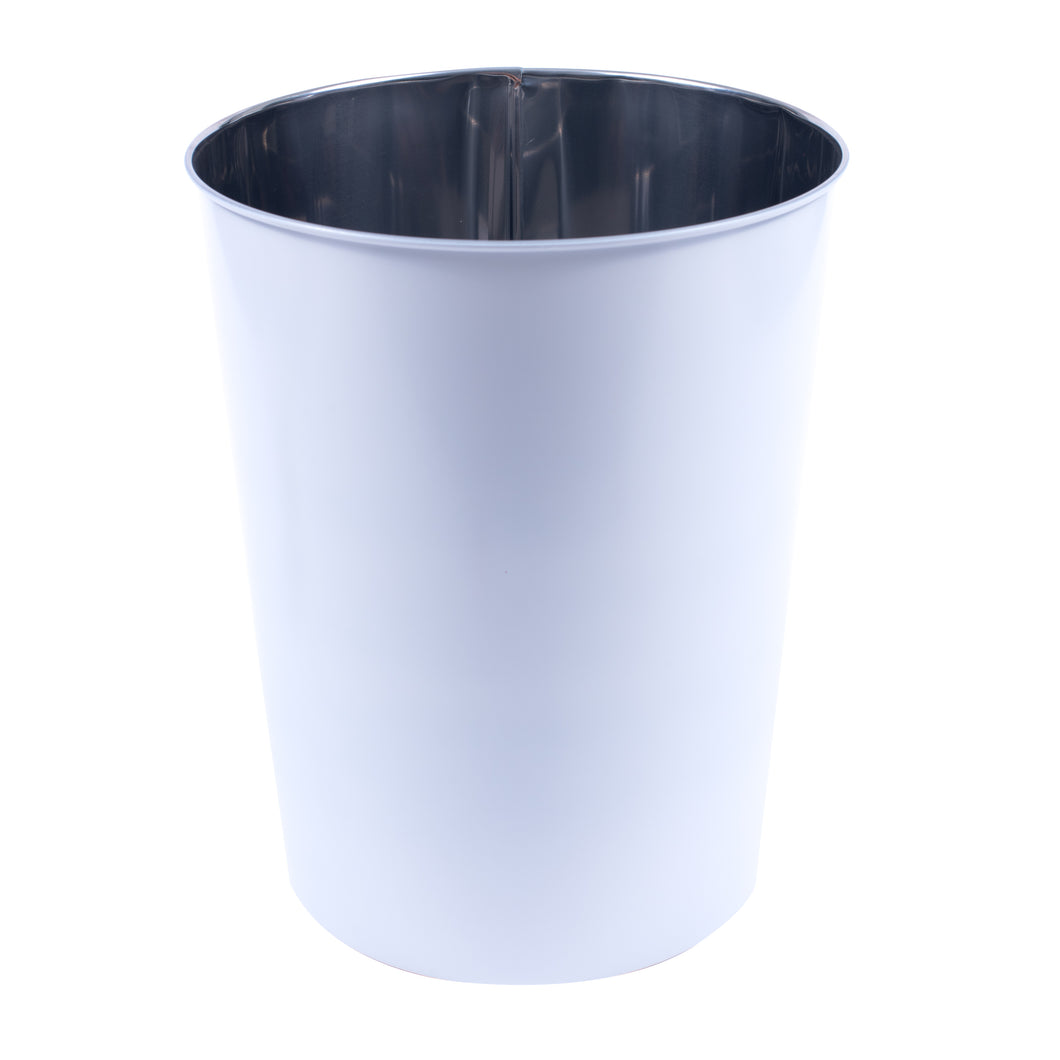 Luster Stainless Steel WasteBin-Matte White