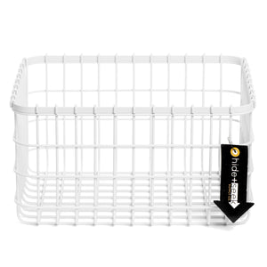 Loop Heavy-Duty Wire Bin-Small-White