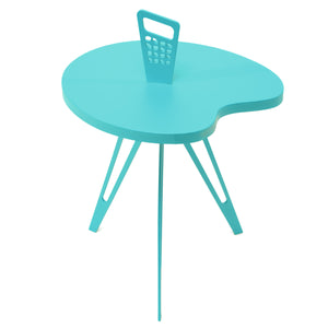 Genie Mod Shaped Side Table (Taller)-Turquoise