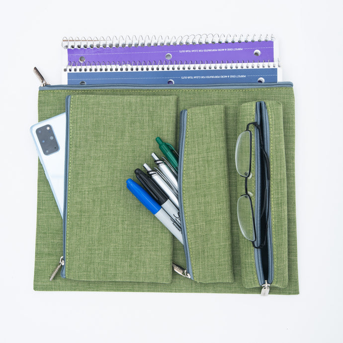 Compose Pouches-set of 4-green