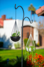 Raindrop Hanging Metal Planters-glossy white-set of 2