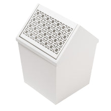 Breeze Block Swing Lid WasteBin-White