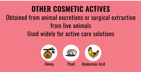 List of typical animal derived Actives in cosmetics to stay away from if you're vegan