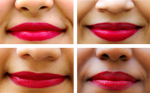 Vegan & Cruelty-free, Red Model - Lip swatch shade on all skin tones
