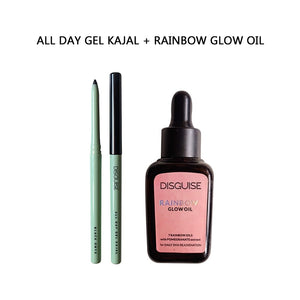 All Day Gel Kajal + Rainbow Glow Oil