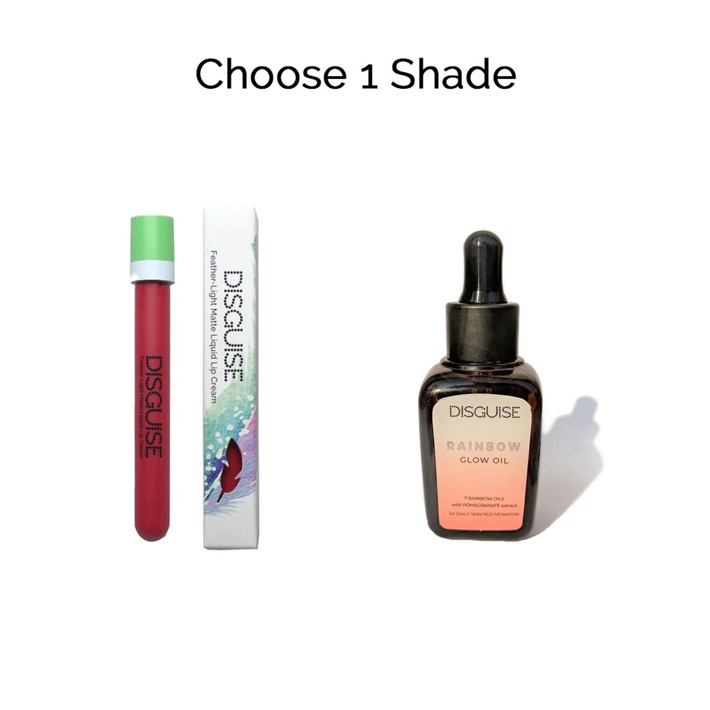 Choose 1 Liquid Lipstick + Rainbow Glow Oil
