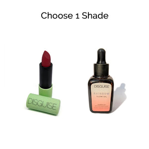 Choose 1 Satin Matte Lipstick + Rainbow Glow Oil