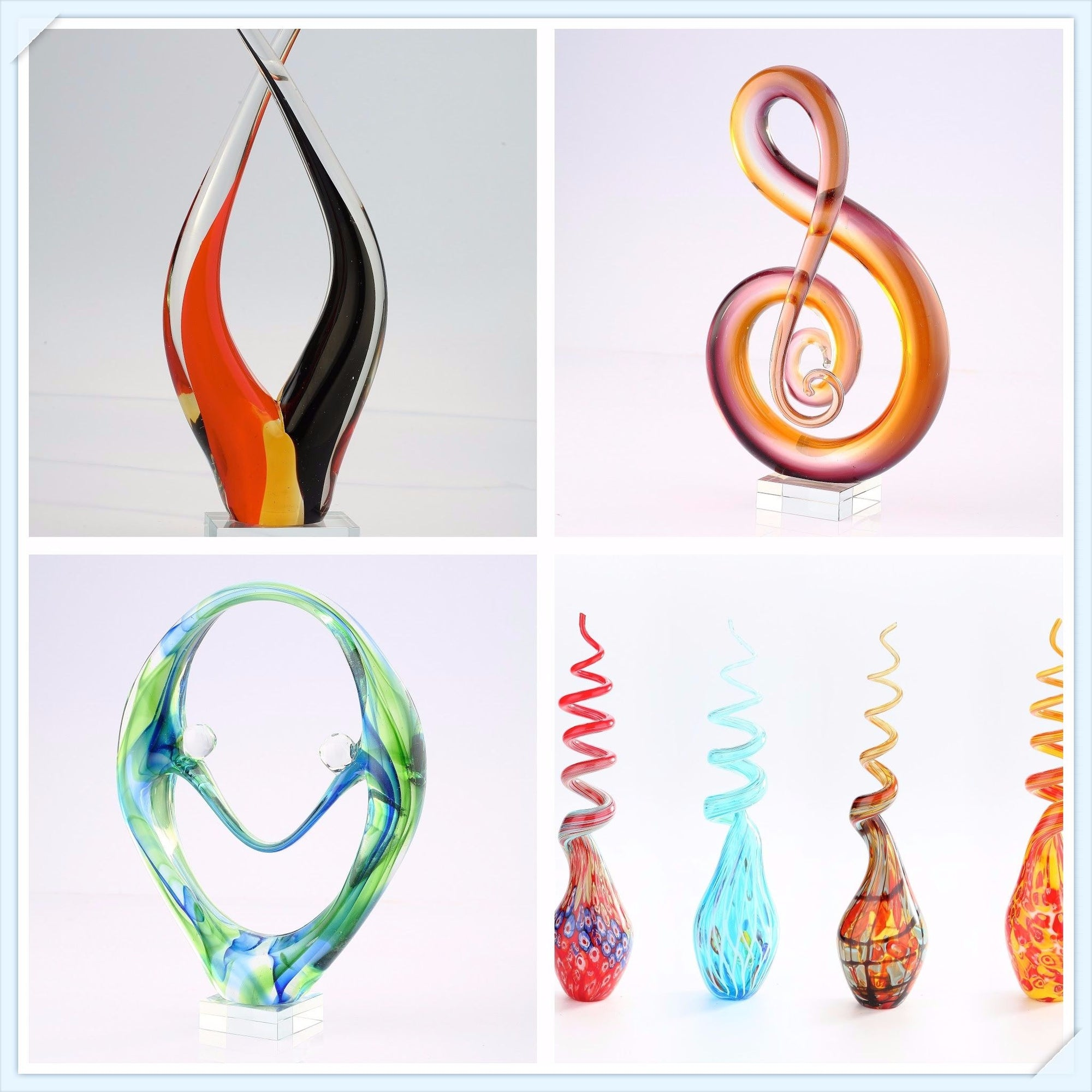 Hand Blown Glass Art and Sculpture
