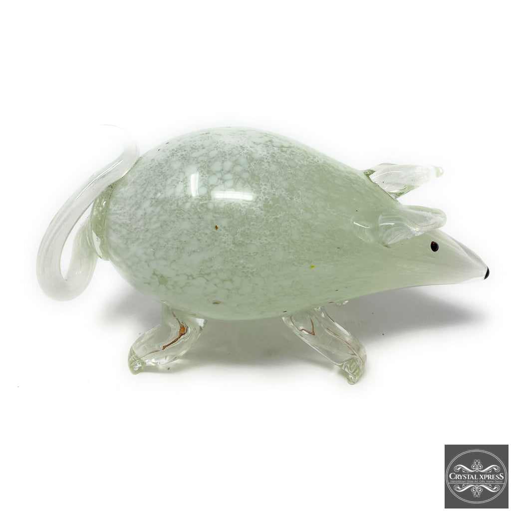 White Mouse Glass Sculpture