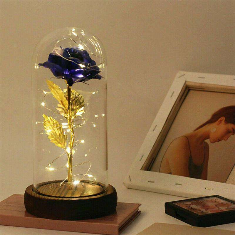 Enchanted Rose Flower Beautiful LED Lamp - Romantic GiftCrystal Xpress