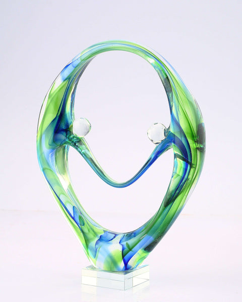 Abstract Hand-Crafted Glass Sculpture