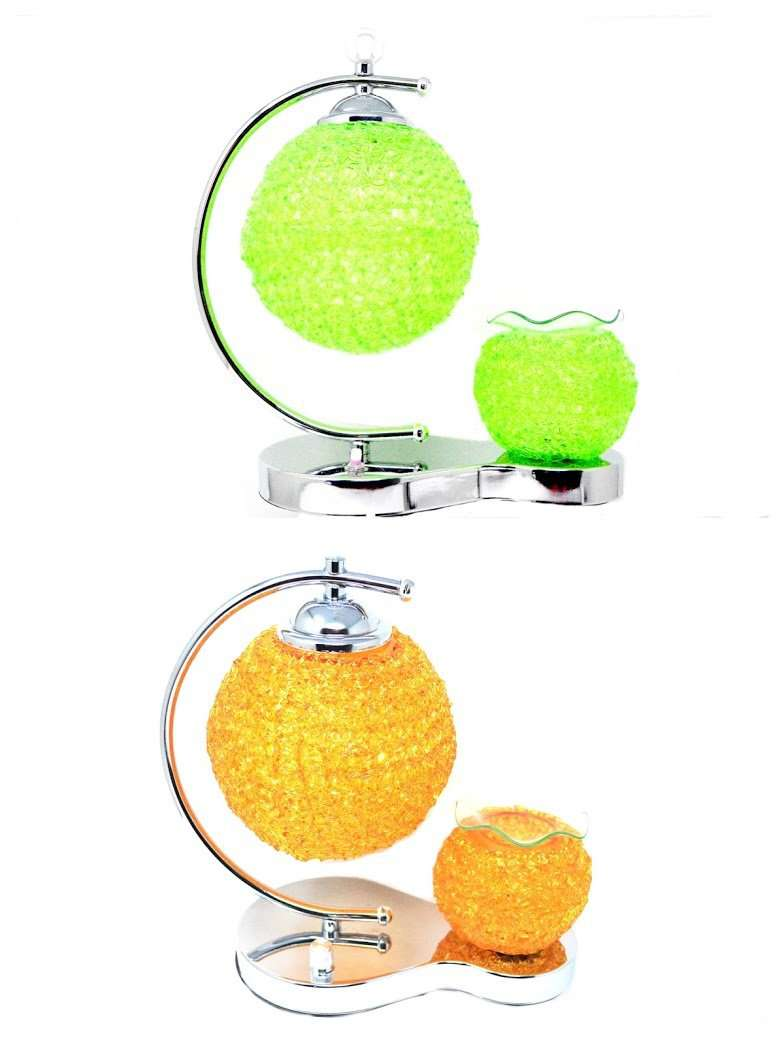A Beautiful Glass Oil Burner & Night Light & Wax Warmer Plug in LampCrystal Xpress