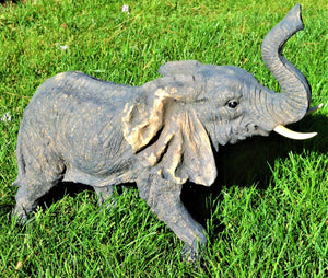 "Resin Elephant Realistic Figurines 21""Crystal Xpress"