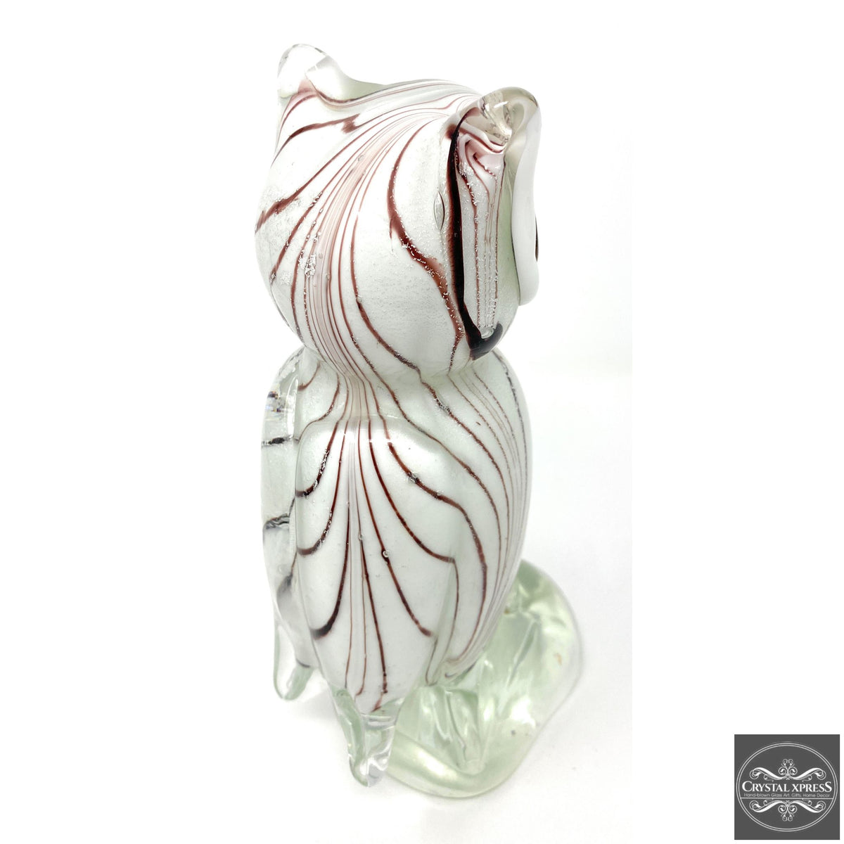 "New 10"" Hand Blown Glass Owl Glass Murano Style Art Sculpture FigurineCrystal Xpress"