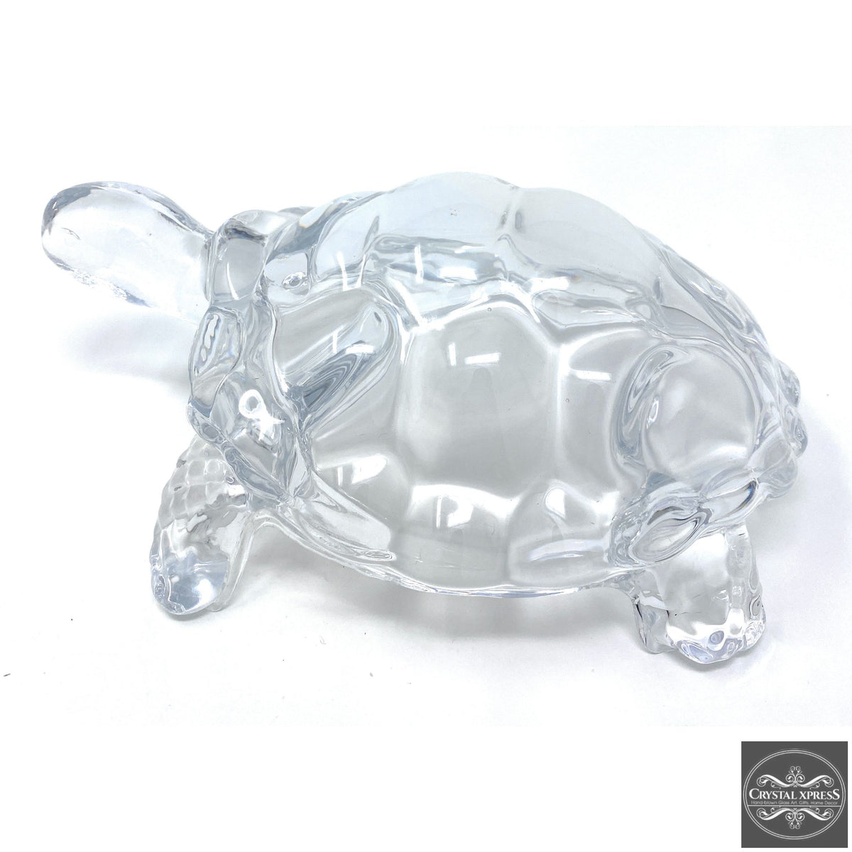 "New 9"" Clear Glass Turtle Tortoise Sculpture FigurineCrystal Xpress"