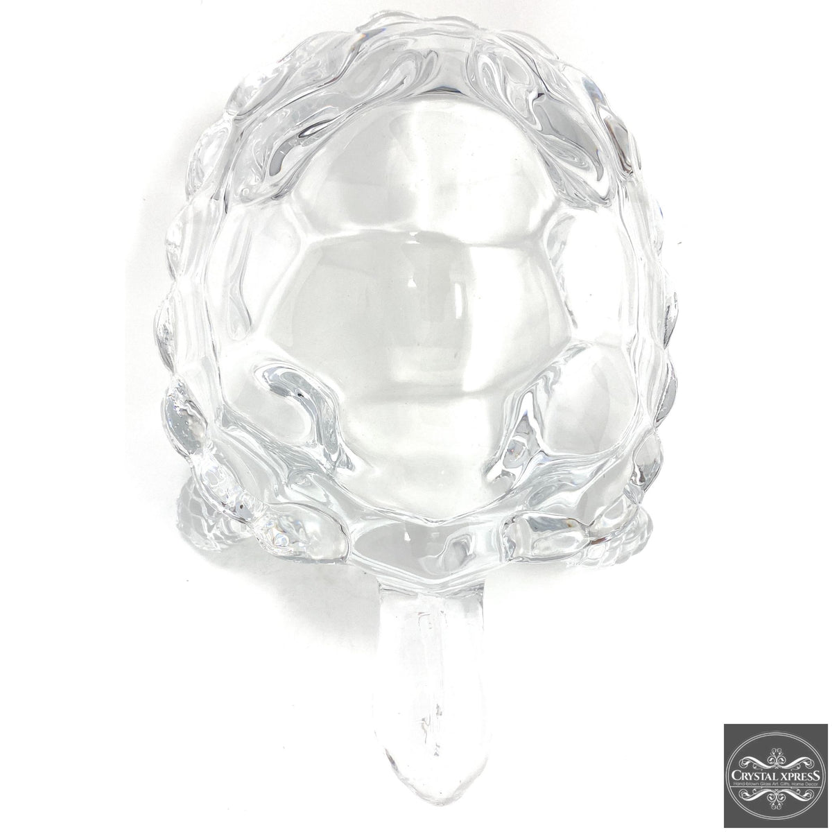 "New 7"" Clear Glass Turtle Tortoise Sculpture FigurineCrystal Xpress"