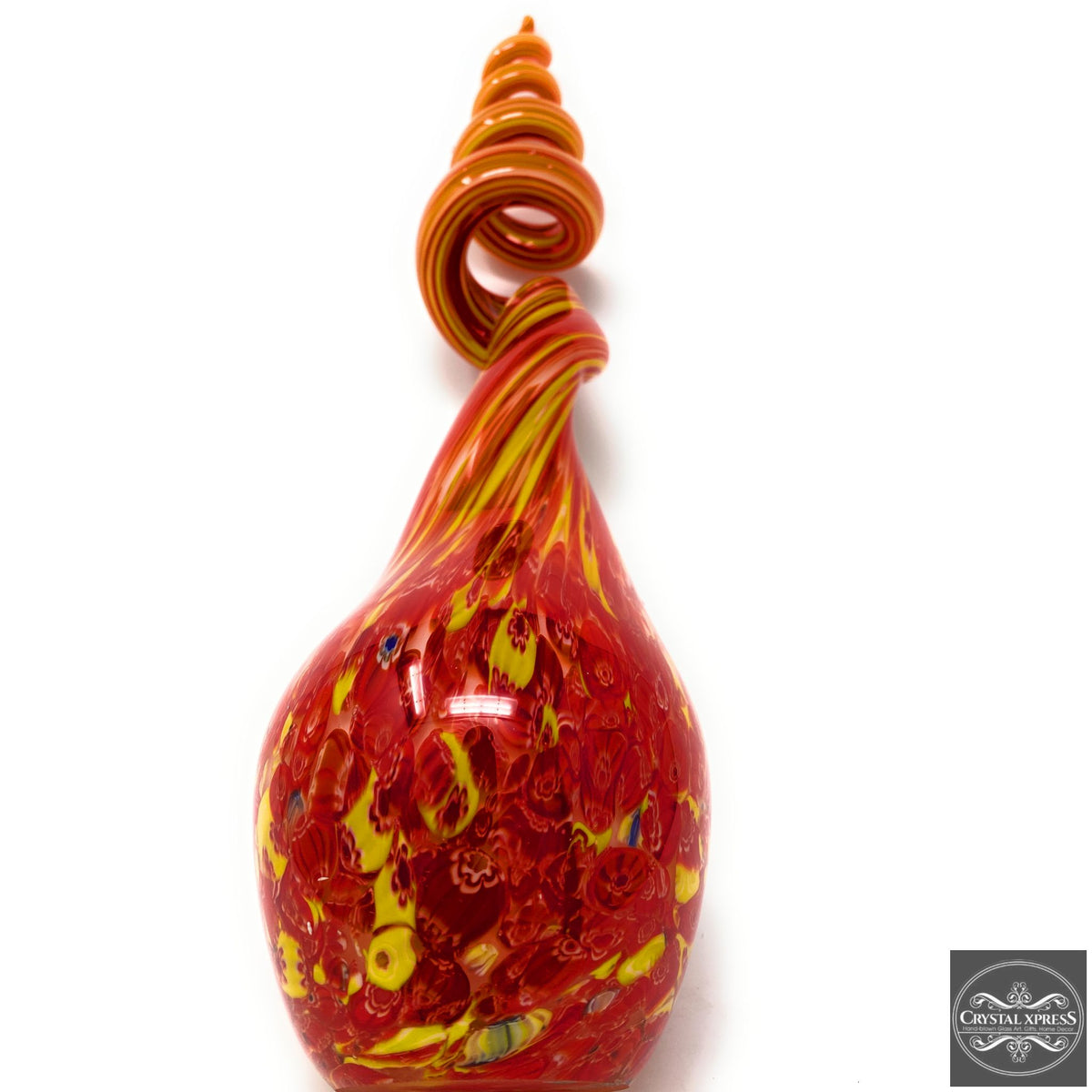 "New 18"" Hand Blown Glass Abstract Glass Sculpture Art Multi Color Selection AvailableCrystal Xpress"