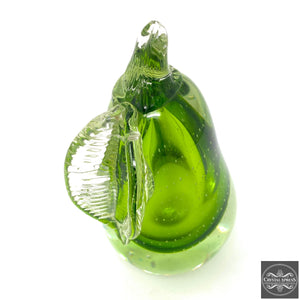 "New 7"" Hand Blown Glass Ultra Bright Pear Sculpture Figurine Different Color Available"