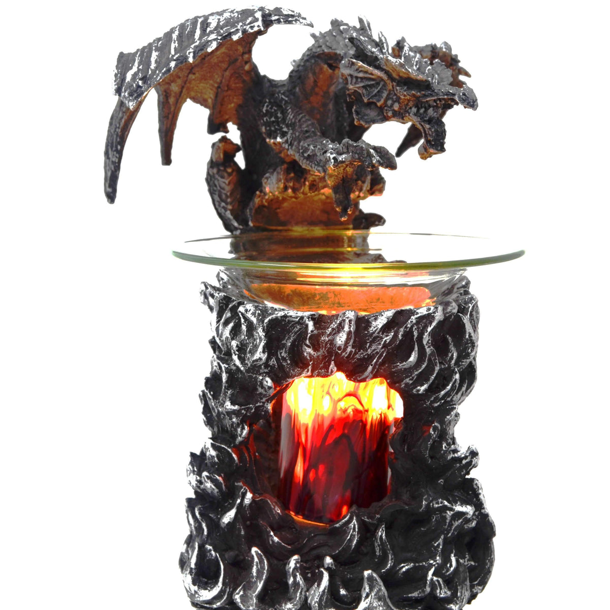 Mythical Winged Dragon Fragrance Lamp & Electric Oil BurnerCrystal Xpress