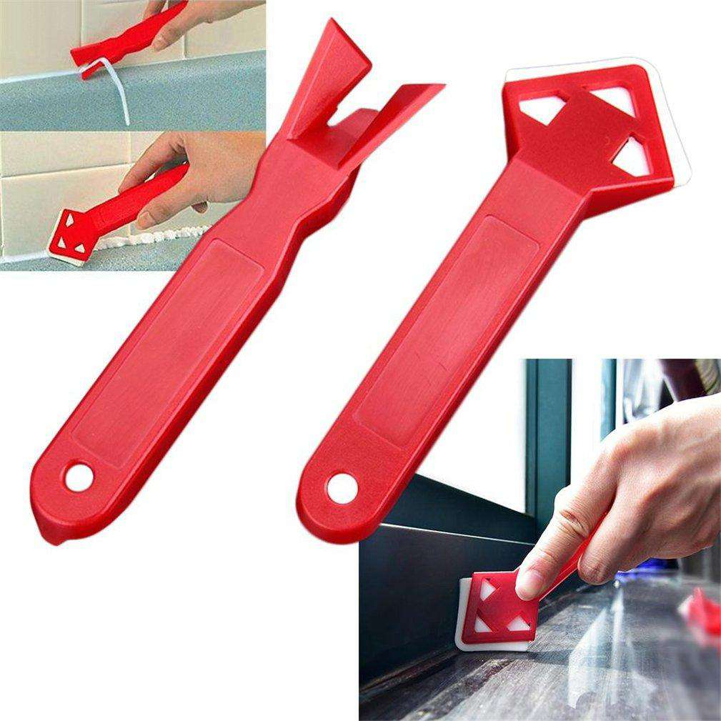 2 Pieces / Tile Cleaner and Caulking Tool - Surface Glue Residue ShovelCrystal Xpress