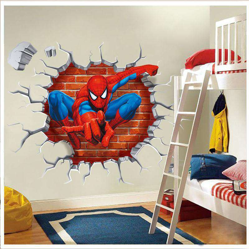 3D Spiderman Wall StickersCrystal Xpress