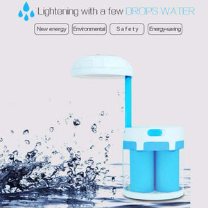 LED Salt Water Chemical Powered Night Light Portable Desk LampCrystal Xpress