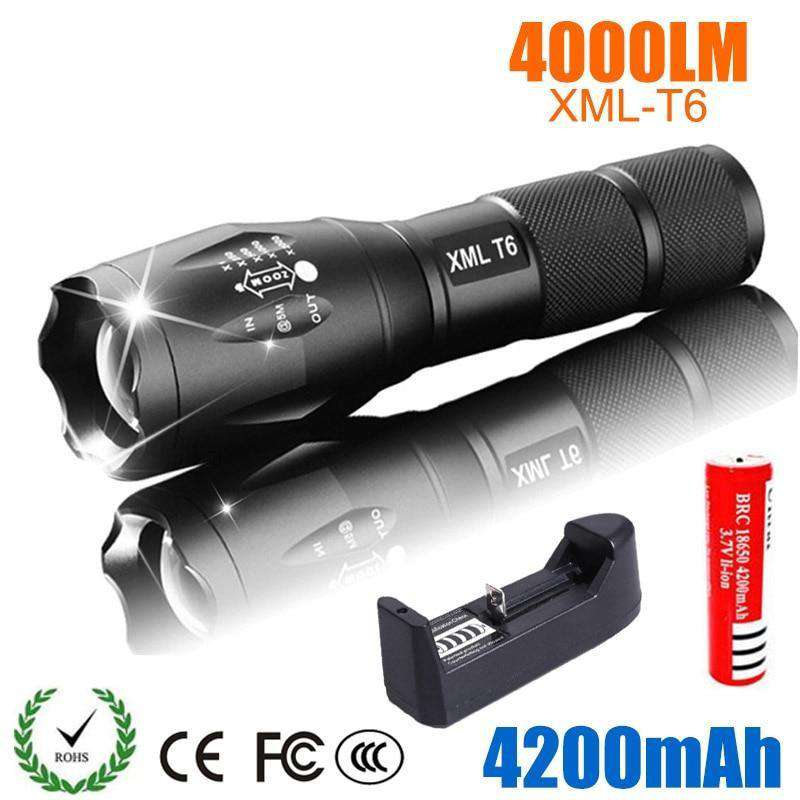 LED Rechargeable Flashlight  4000 lumensCrystal Xpress