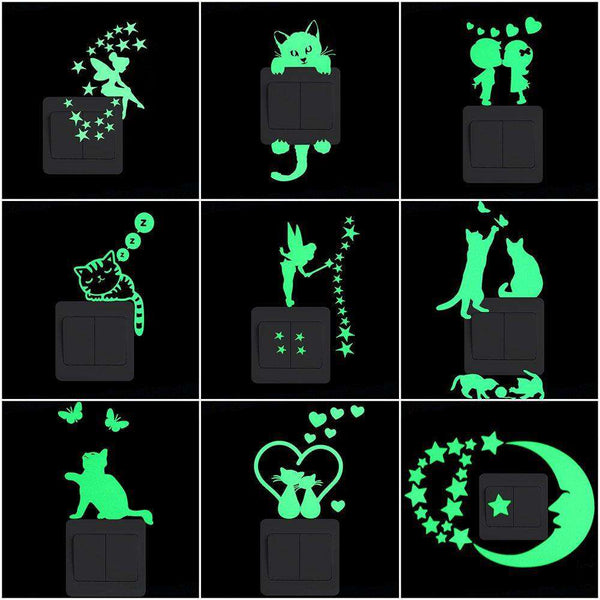 Luminous Switch Sticker - Glow in the Dark Wall Stickers