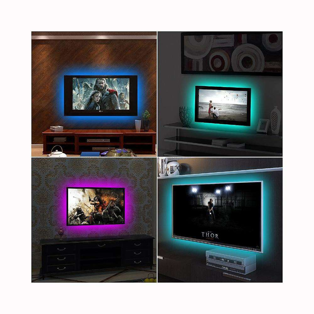 TV Background RGB LED Strip Light With IR ControllerCrystal Xpress