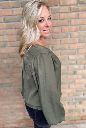 Catherine Blouse (Olive)