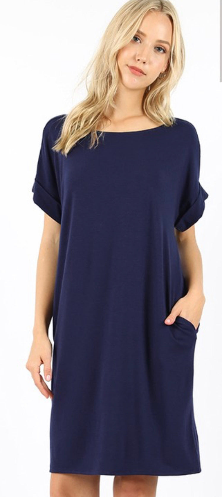 Quincy Shift Dress - (2 Colors) Curvy
