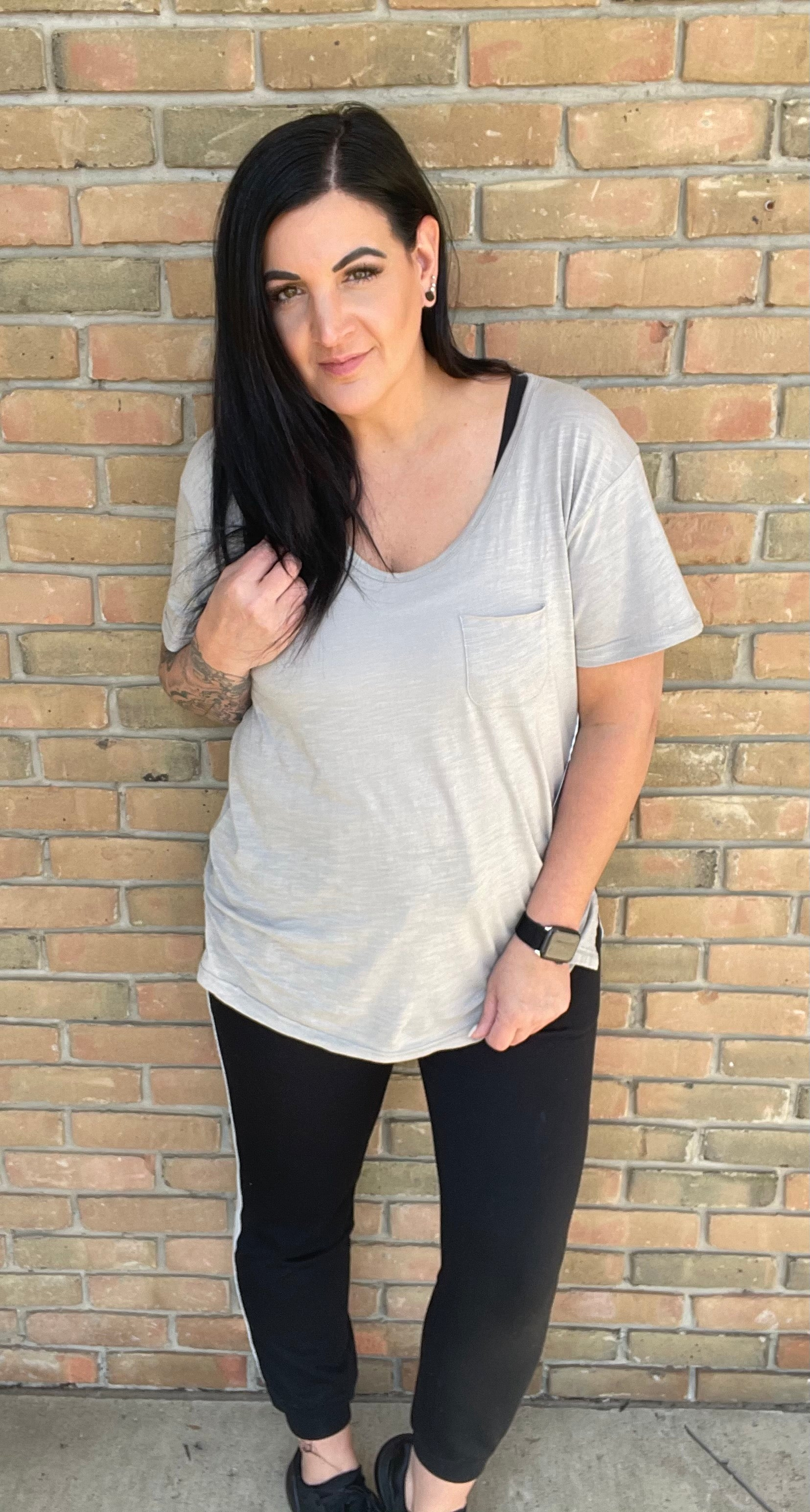 Maelyn Pocketed Tee - 4 Colors