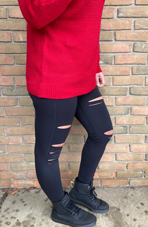 Joy Laser Cut Leggings