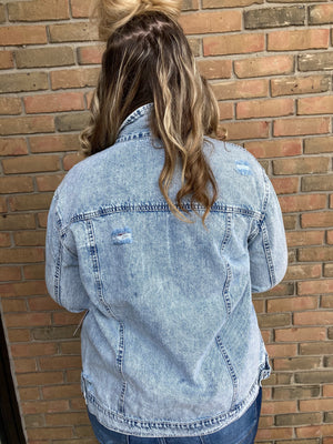 Adele Acid Wash Jacket - Curvy
