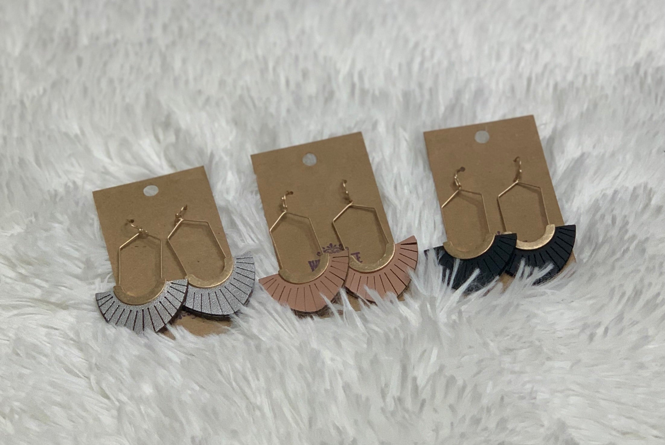 Leather Earrings (3 Colors)