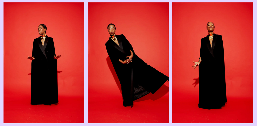 Samira Wiley wears Sterling King Magma Neckpiece on the cover of Nylon