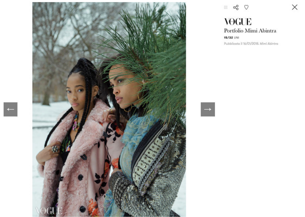 Sterling King Bubble Ring featured in Vogue Italia