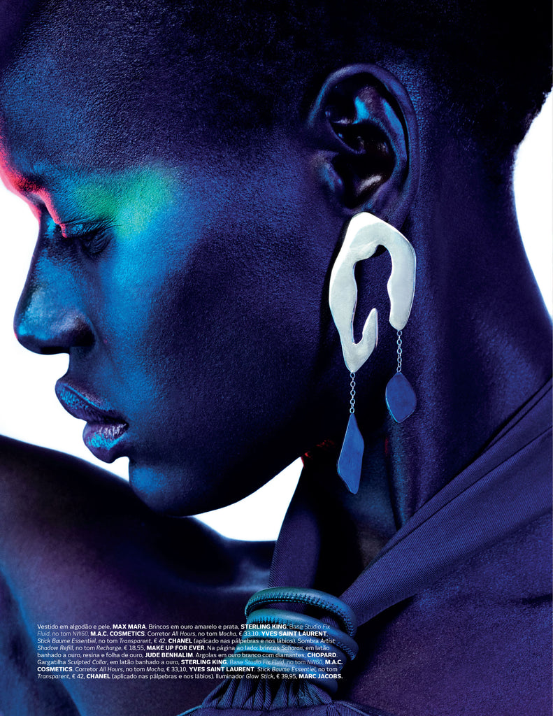 Sterling King Leopard Print Earrings featured in Vogue Portugal