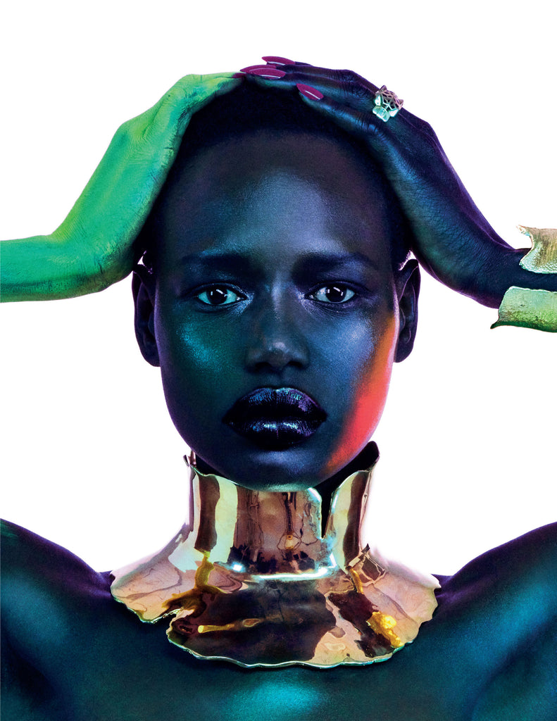 Sterling King Magma Neckpiece and Fracture Cuff featured in Vogue Portugal