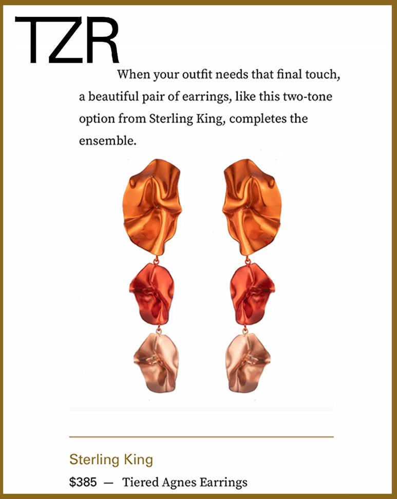 The Zoe Report features Sterling King Agnes Earrings
