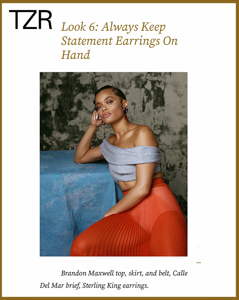 The Zoe Report features Sterling King Juno Fold Earrings worn by Andra Day